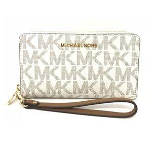 Michael Kors Vanilla Large Phone Case Wallet